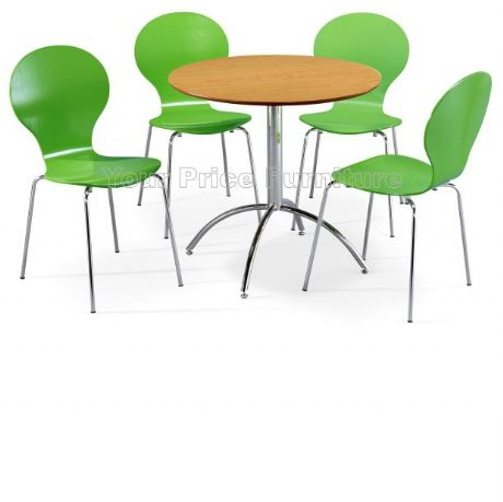 Kimberley Dining Set Natural & 4 Green Chairs Sale Now On Your Price Furniture